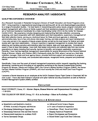 Before Version Of Resume ...  Management And Program Analyst Resume