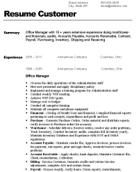 resume of office manager