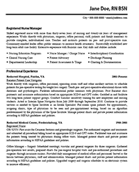 Sample Nursing Resume Resume Express